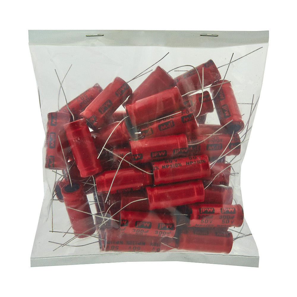 300uf Electrolytic Bipolar Capacitors. BULK BAG 50 - Willys-Hifi Ltd