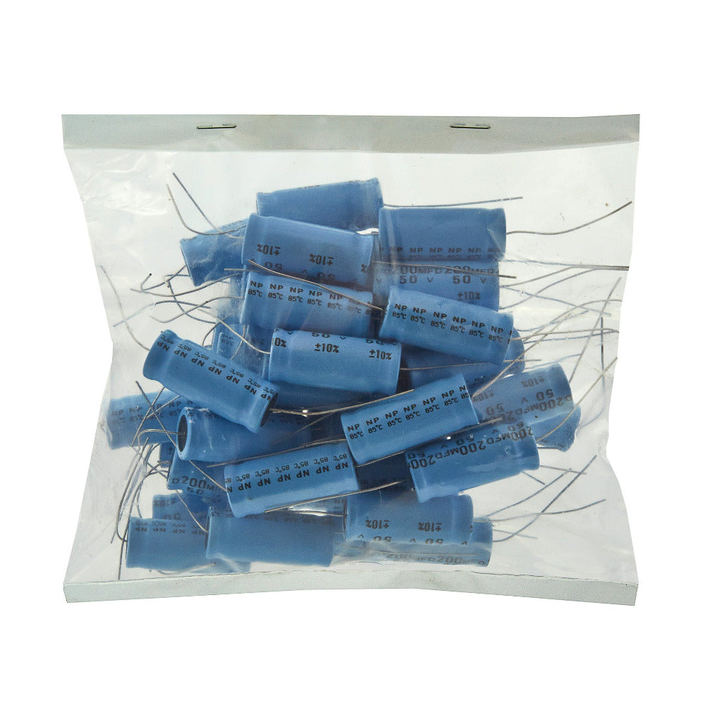 200uf Electrolytic Bipolar Capacitors. BULK BAG 50 - Willys-Hifi Ltd