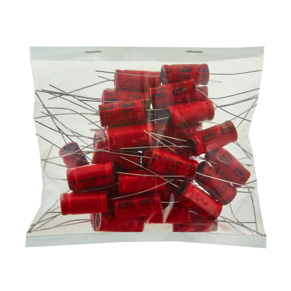 100uf Electrolytic Bipolar Capacitors. BULK BAG 50 - Willys-Hifi Ltd