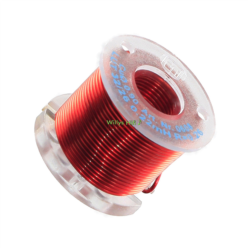 Baked air core audio inductors, 0.8mm wire.