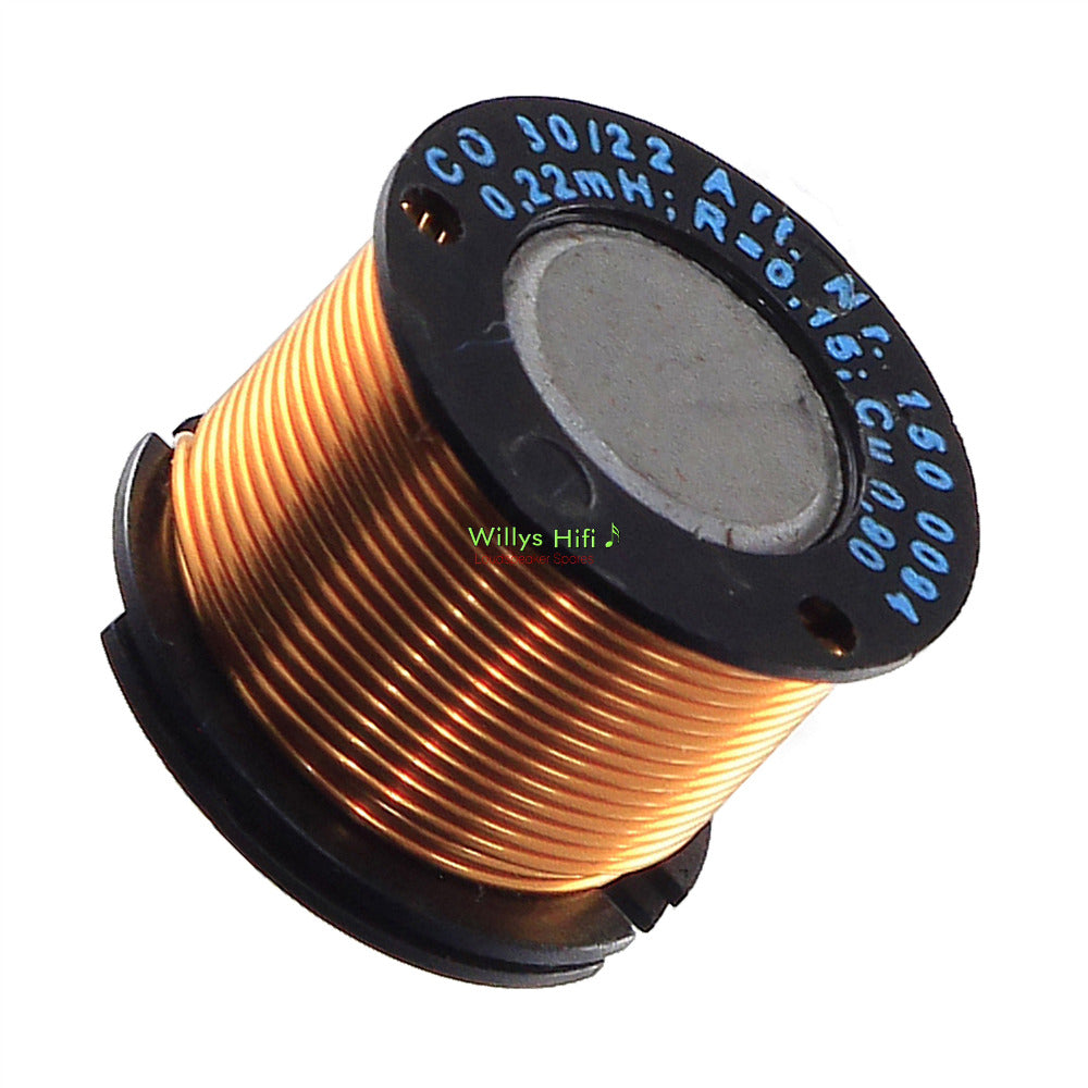 Crossover Inductor, Iron Core  0.6-0.9mm OFC, 0.10mH - 2.2mH 5% Tolerance