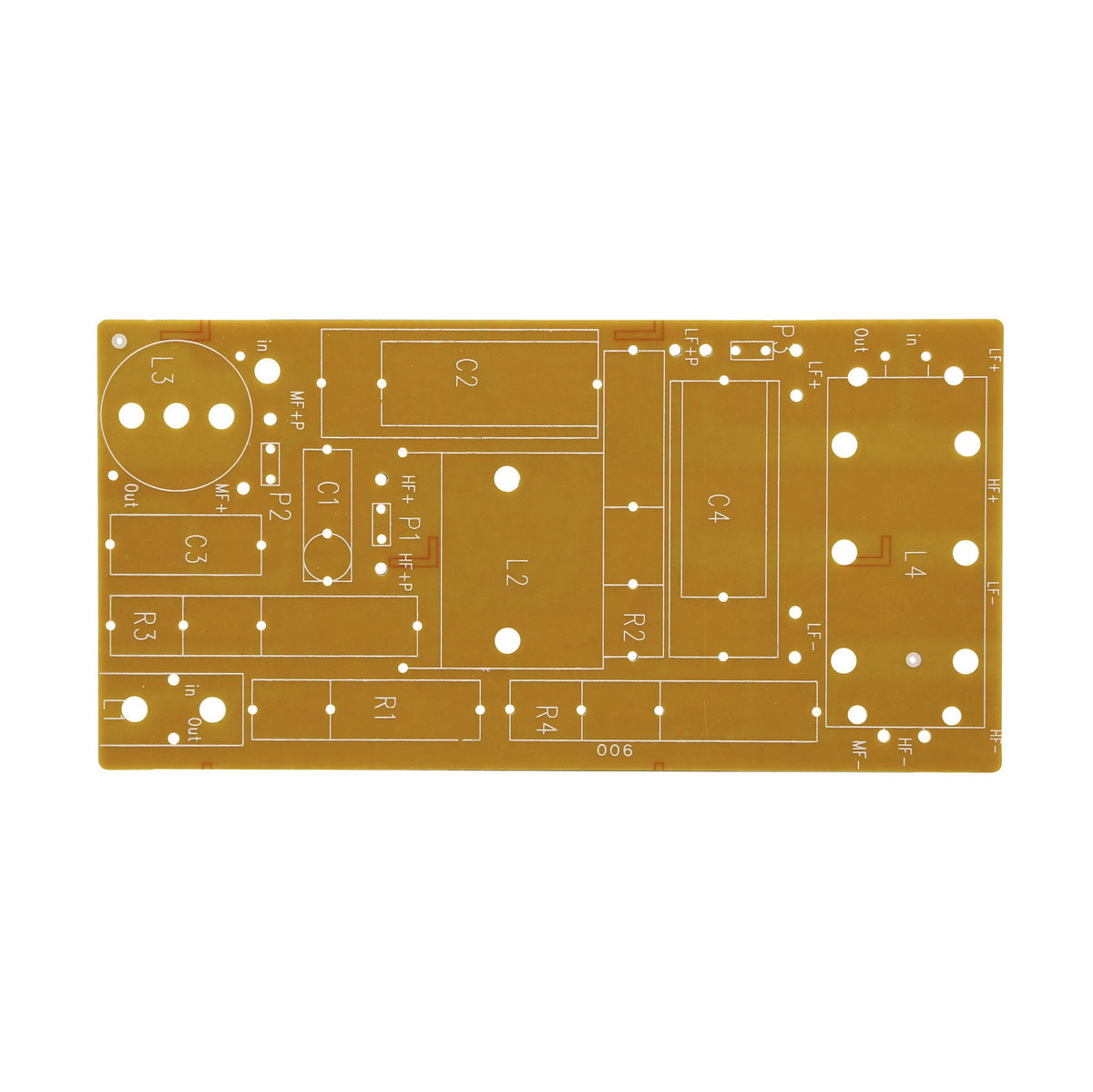 Speaker crossover circuit board - Universal - Willys-Hifi Ltd