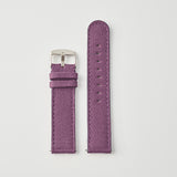 Aubergine Canvas/Leather Strap