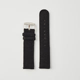 Black Canvas/Leather Strap