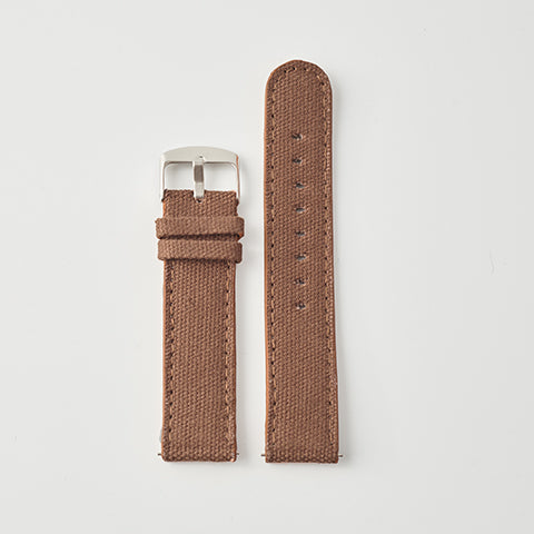 Brown Canvas/Leather Strap