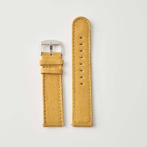 Mustard Canvas/Leather Strap