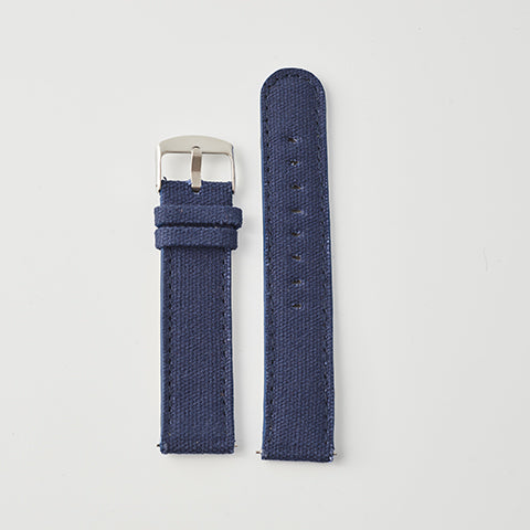 Navy Canvas/Leather Strap
