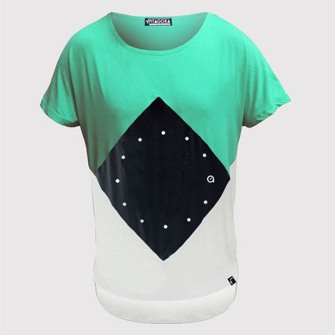 T-shirt NAAK x PITAGORA green/white