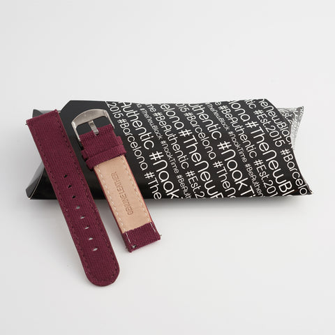 Plum Canvas/Leather Strap