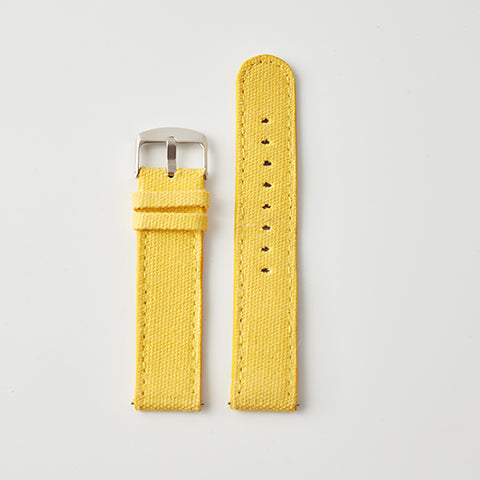 Yellow Canvas/Leather Strap
