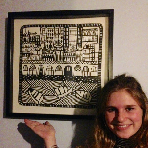 brighton paper cut by caroline rees