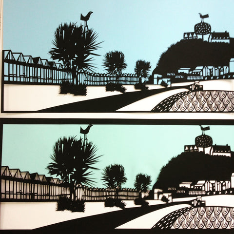 Langland Bay Paper Cut