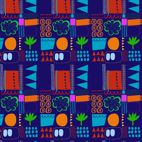 vibrant repeat textile design