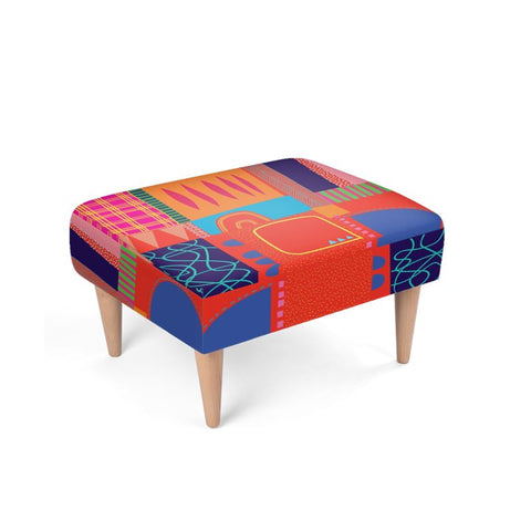 Memphis Footstool by Caroline Rees