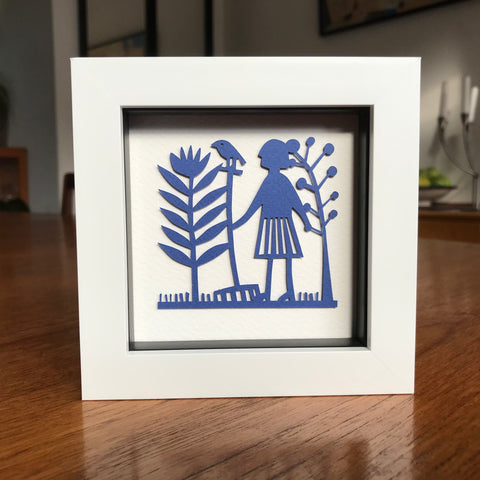 Framed Gardening Mini Paper Cut