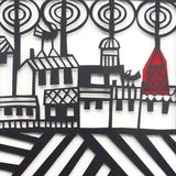 City papercut detail