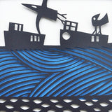 Over the Sea Papercut