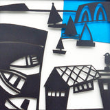 Yachts Paper Cutting Template