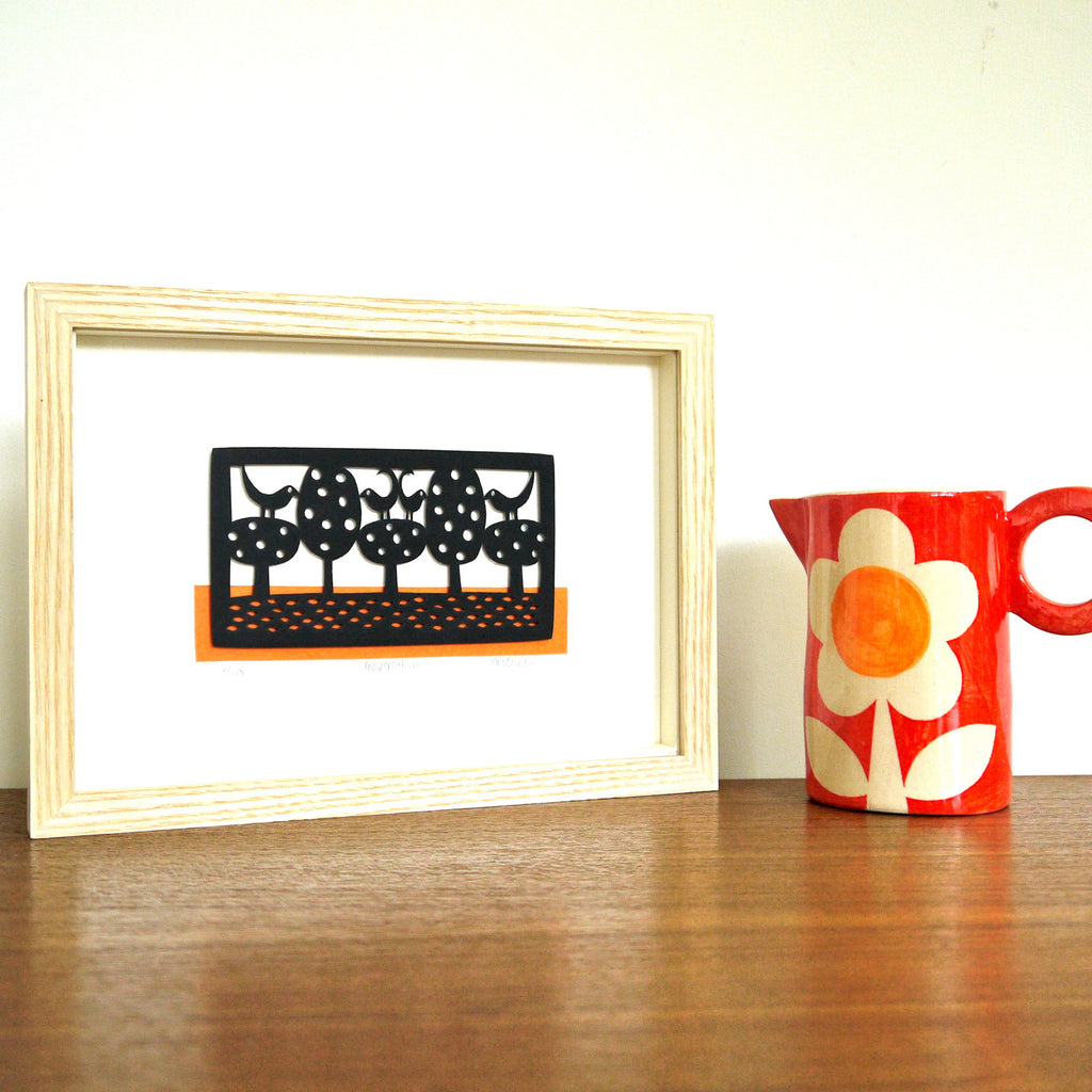 Conversation papercut framed