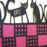 Five Cats on a Welsh Blanket detail