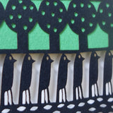 Flock papercut detail