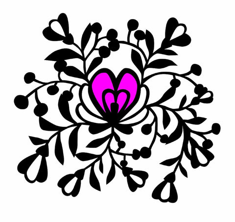Floral 1 Paper Cutting Template