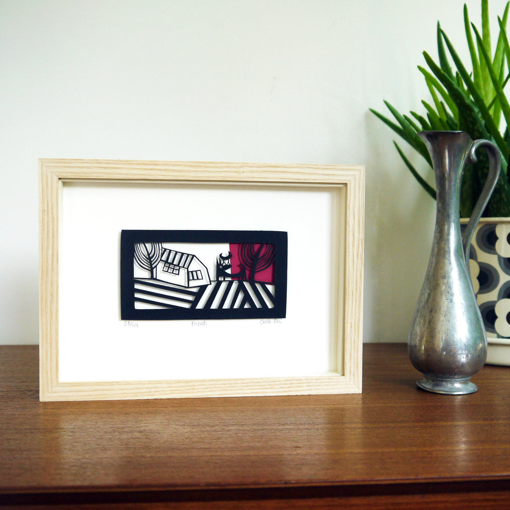 Friends Papercut Framed
