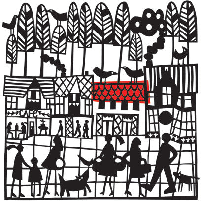 High Street Paper Cut Print OUT OF STOCK