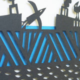 Horizon papercut detail