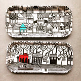 Hillside and The Sea melamine trays