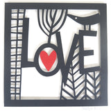 Love Paper Cutting Template