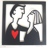 Couple in Love Paper Cutting Template