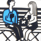 On the bench papercut