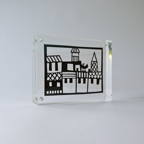 City Papercut in Perspex