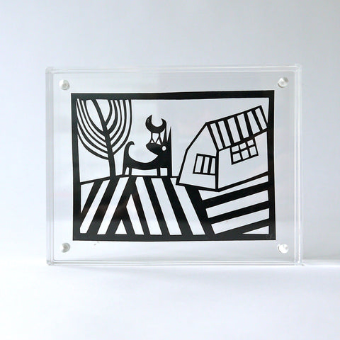 Friends Papercut in Perspex