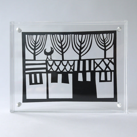 Terrace Papercut in Perspex