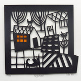 Nightime Papercut by Caroline Rees