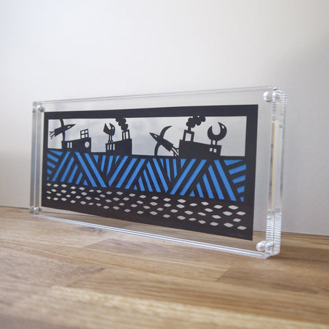 Horizon Papercut in Perspex