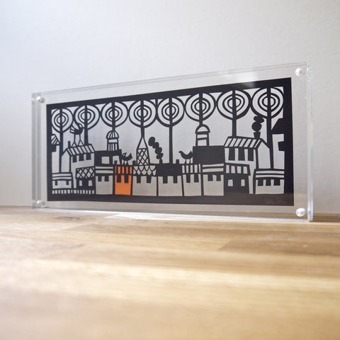 City Trees Papercut in Perspex