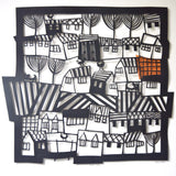 Welsh Town Papercut by Caroline Rees