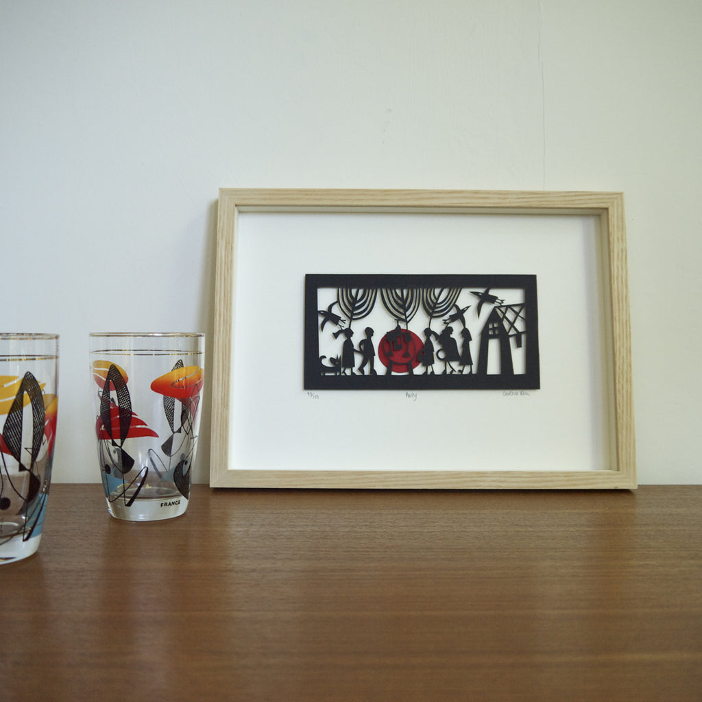 Party Papercut framed