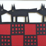 Three Dogs Papercut