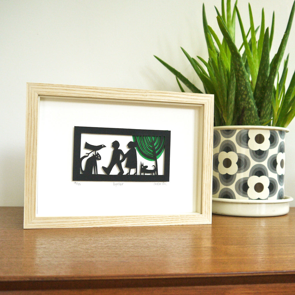 Together papercut framed