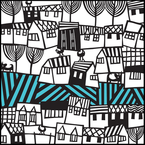 Welsh Town Paper Cut Print