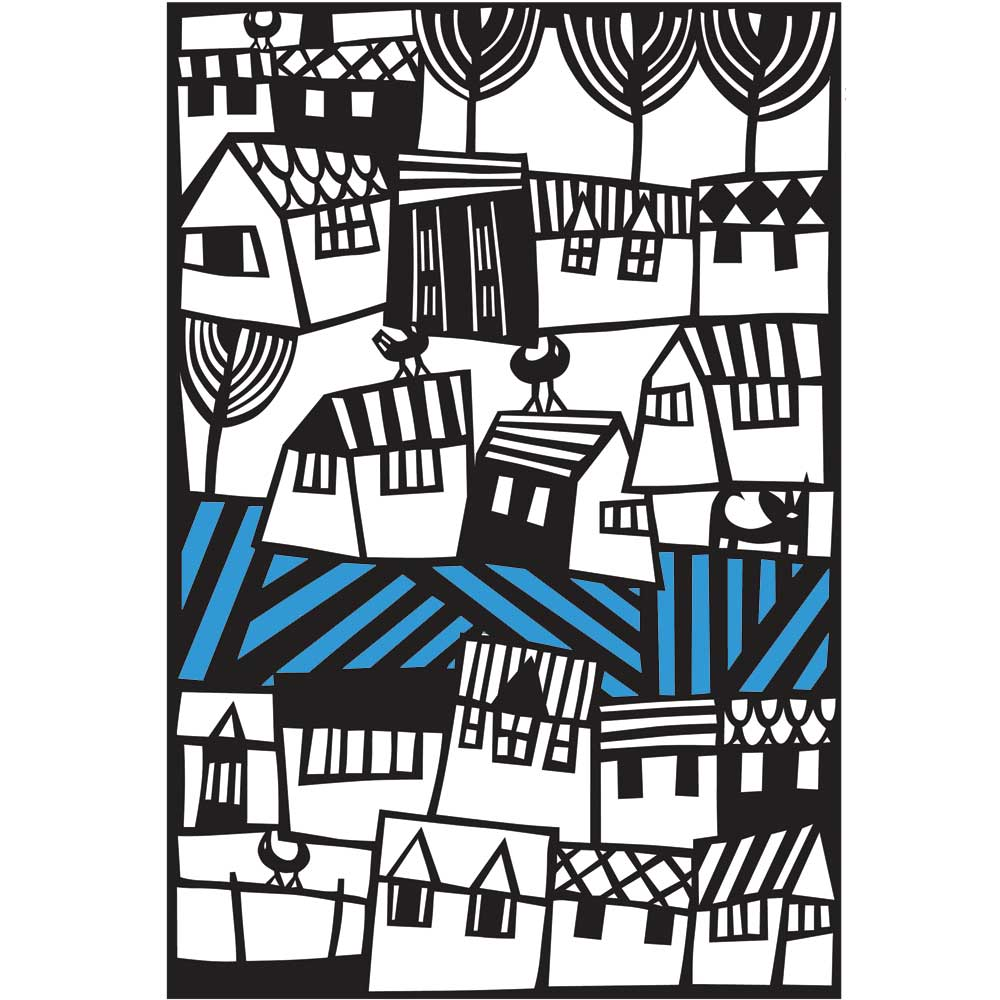 Welsh Village Paper Cutting Template