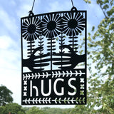 Hugs Paper Cut Artwork