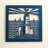 Lighthouse Paper Cut