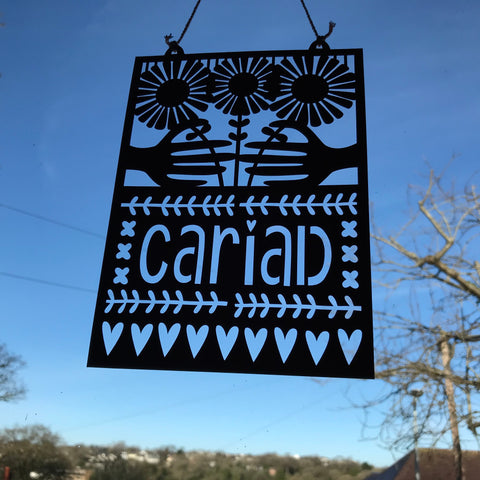Cariad Paper Cut Artwork