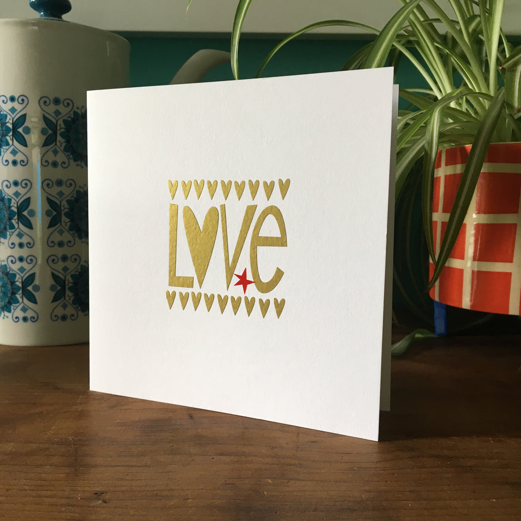 Love Hand Made Card