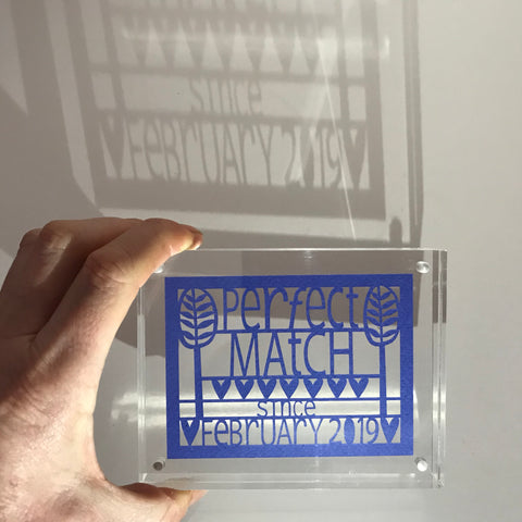 Perfect Match Paper Cut Block